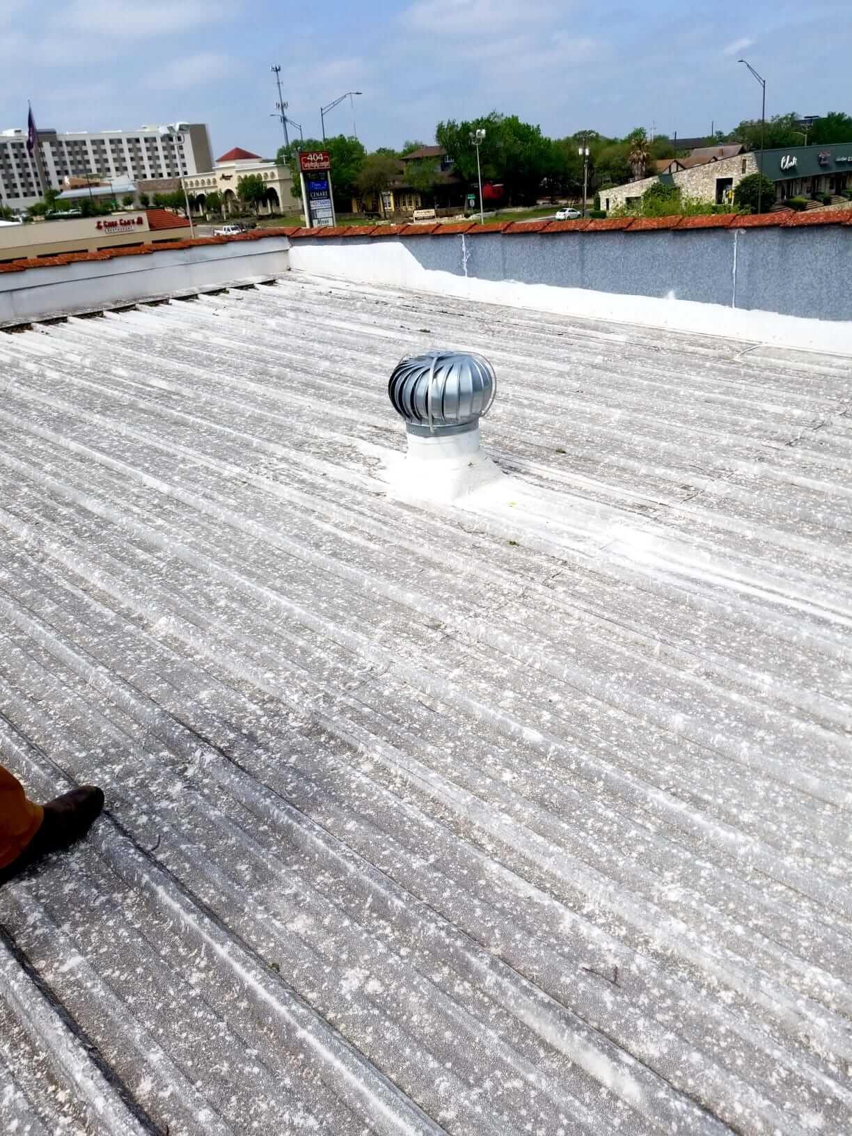 Hail Damage to Metal Roof